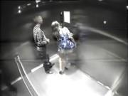 Любительский секс в лифте
